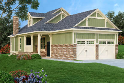 2 Bed, 2 Bath, 1062 Square Foot House Plan - #048-00260