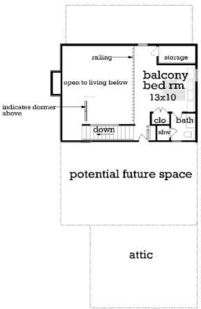 Second Floor for House Plan #048-00260