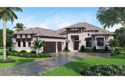 4 Bed, 4 Bath, 3382 Square Foot House Plan - #207-00052