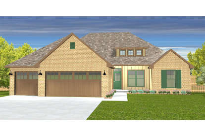 4 Bed, 2 Bath, 1757 Square Foot House Plan - #677-00005