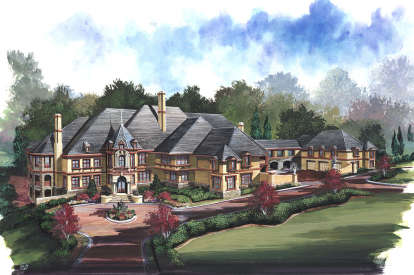 6 Bed, 8 Bath, 7618 Square Foot House Plan - #4195-00001