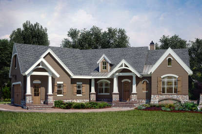 3 Bed, 2 Bath, 2619 Square Foot House Plan #4195-00002