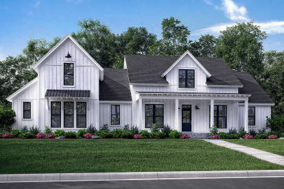 4 Bed, 3 Bath, 2742 Square Foot House Plan #041-00169