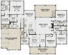 Main Floor for House Plan #041-00169