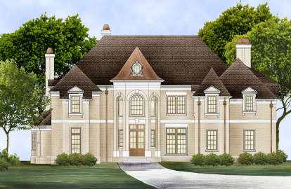 4 Bed, 5 Bath, 3777 Square Foot House Plan #4195-00005