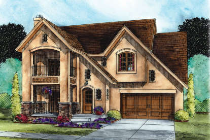 3 Bed, 2 Bath, 1566 Square Foot House Plan #402-01487