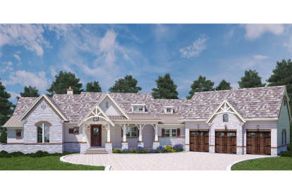 3 Bed, 3 Bath, 2531 Square Foot House Plan - #4195-00009