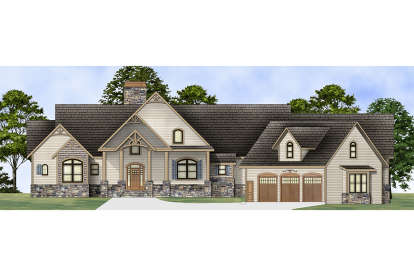 3 Bed, 2 Bath, 2878 Square Foot House Plan #4195-00010
