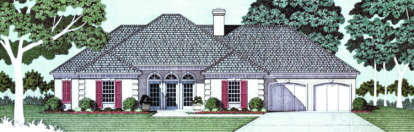 4 Bed, 2 Bath, 2252 Square Foot House Plan - #048-00140