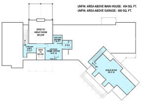 Optional Second Floor for House Plan #4195-00011