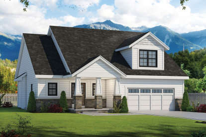 3 Bed, 2 Bath, 1878 Square Foot House Plan #402-01489