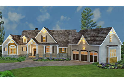 3 Bed, 3 Bath, 2499 Square Foot House Plan #4195-00015