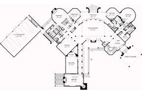 First Floor for House Plan #4195-00018
