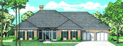 4 Bed, 2 Bath, 2396 Square Foot House Plan - #048-00145