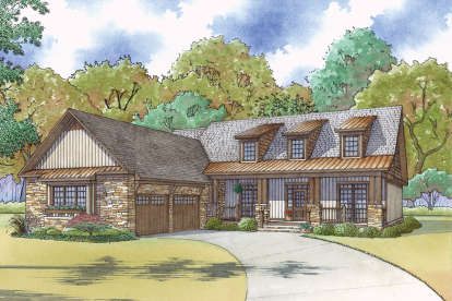 4 Bed, 3 Bath, 2464 Square Foot House Plan - #8318-00064