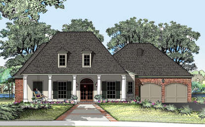 4 Bed, 3 Bath, 2776 Square Foot House Plan - #7516-00012