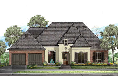 4 Bed, 3 Bath, 2810 Square Foot House Plan - #7516-00014