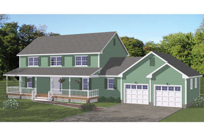 5 Bed, 4 Bath, 2525 Square Foot House Plan - #526-00053