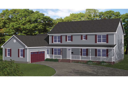 5 Bed, 3 Bath, 3310 Square Foot House Plan - #526-00056
