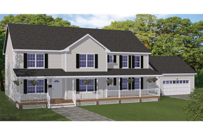 5 Bed, 3 Bath, 3552 Square Foot House Plan - #526-00063