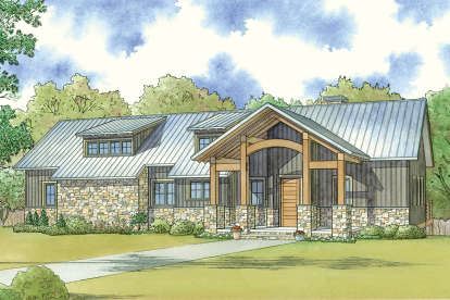 3 Bed, 2 Bath, 1981 Square Foot House Plan - #8318-00068