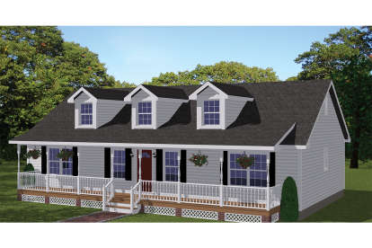 3 Bed, 2 Bath, 1381 Square Foot House Plan #526-00077