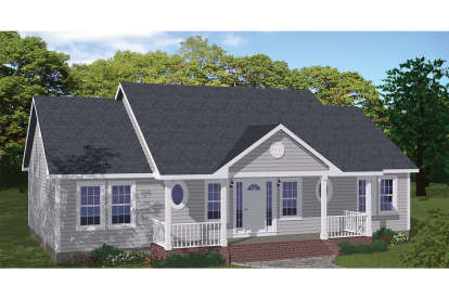 3 Bed, 2 Bath, 1400 Square Foot House Plan #526-00080