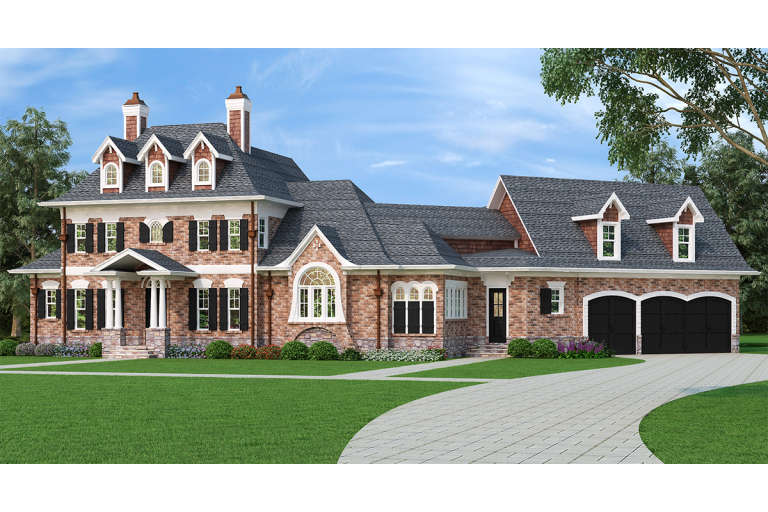 Luxury House Plan #4195-00028 Elevation Photo