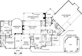 First Floor for House Plan #4195-00028
