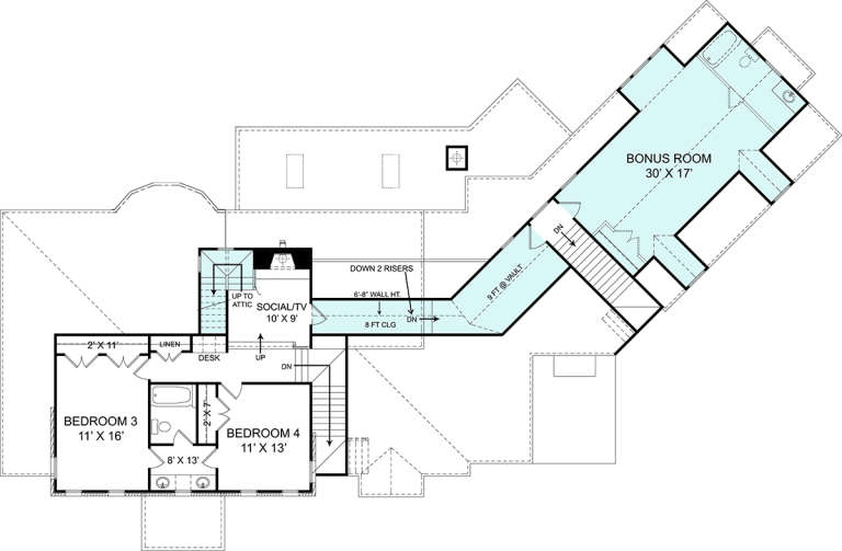 Second Floor for House Plan #4195-00028