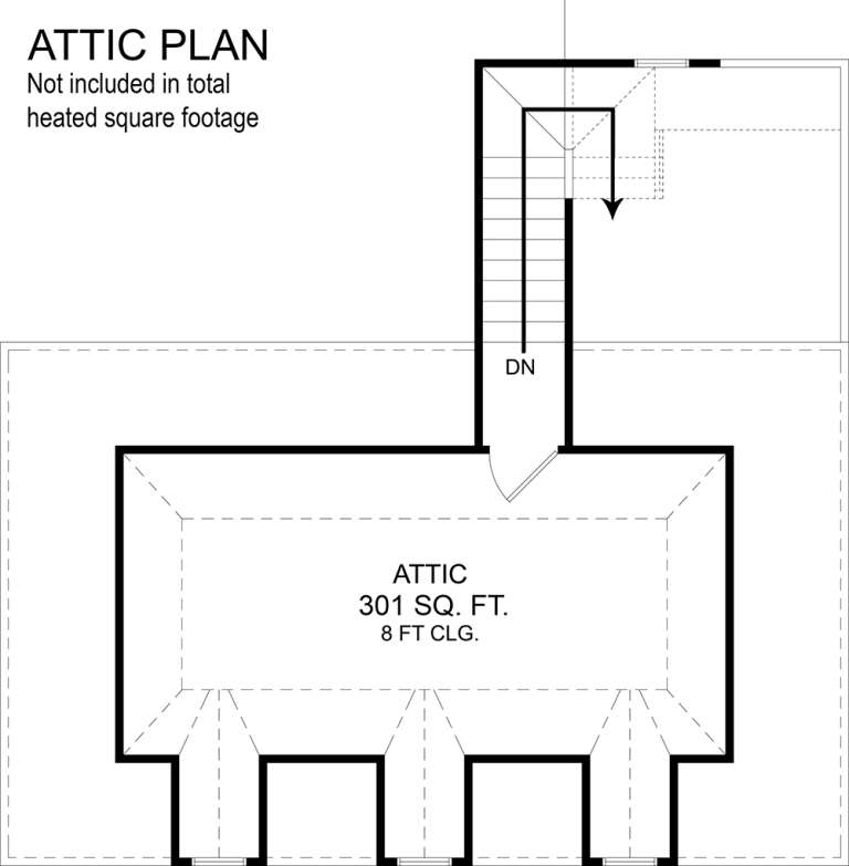 Attic Floor Plan for House Plan #4195-00028