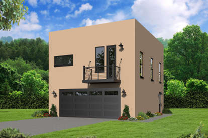 2 Bed, 1 Bath, 817 Square Foot House Plan - #940-00073
