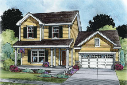 2 Bed, 2 Bath, 1434 Square Foot House Plan - #402-01490