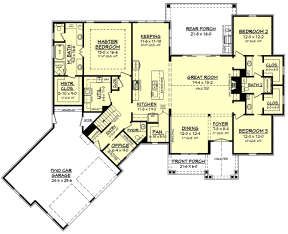 First Floor for House Plan #041-00170