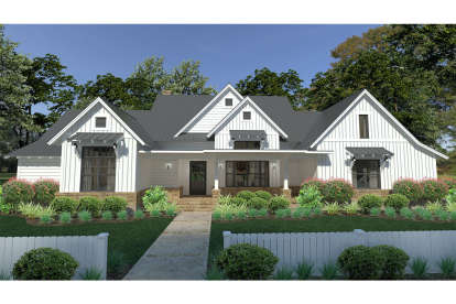 3 Bed, 2 Bath, 2393 Square Foot House Plan - #9401-00094