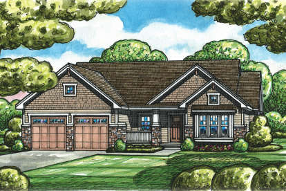 1 Bed, 2 Bath, 1732 Square Foot House Plan - #402-01507
