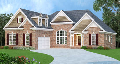 3 Bed, 2 Bath, 2397 Square Foot House Plan - #009-00003