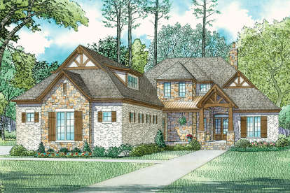 4 Bed, 4 Bath, 3251 Square Foot House Plan - #110-01055