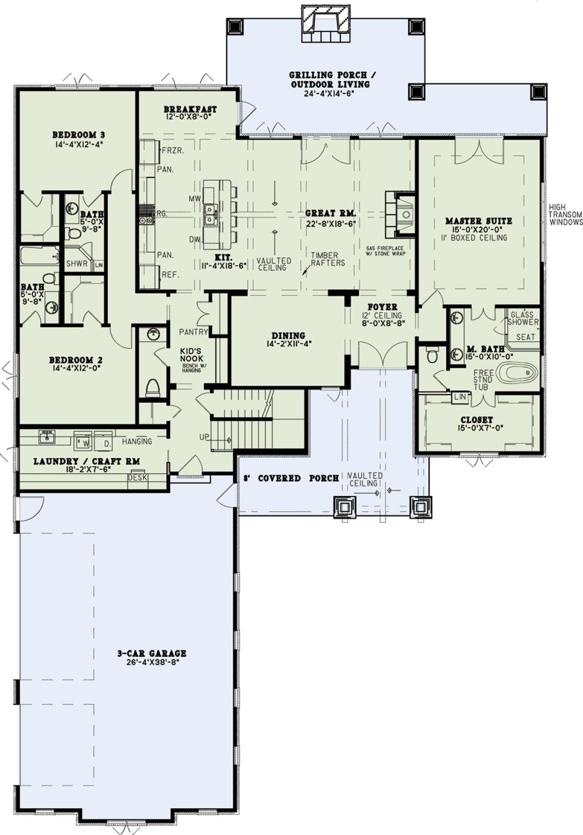 Craftsman Plan: 3,251 Square Feet, 4 Bedrooms, 4.5 ...
