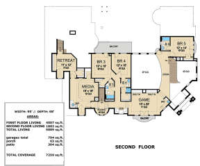 Second Floor for House Plan #5445-00295