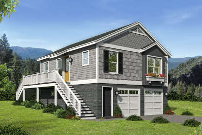 1 Bed, 1 Bath, 780 Square Foot House Plan - #940-00083
