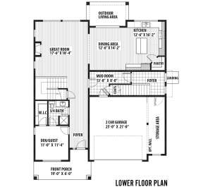 First Floor  for House Plan #9488-00001