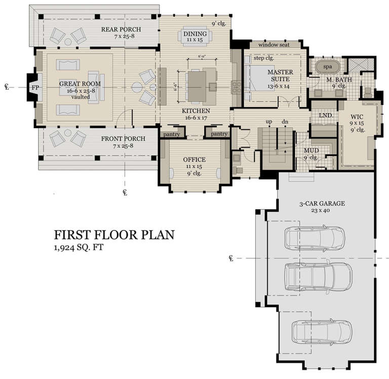 First Floor  for House Plan #098-00297