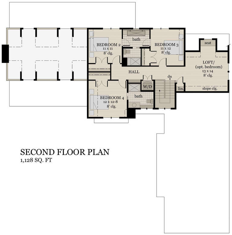 Second Floor for House Plan #098-00297
