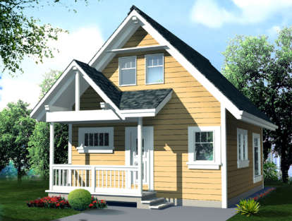 1 Bed, 1 Bath, 796 Square Foot House Plan - #4177-00002
