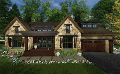 3 Bed, 2 Bath, 2358 Square Foot House Plan - #098-00298