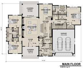 First Floor  for House Plan #098-00298