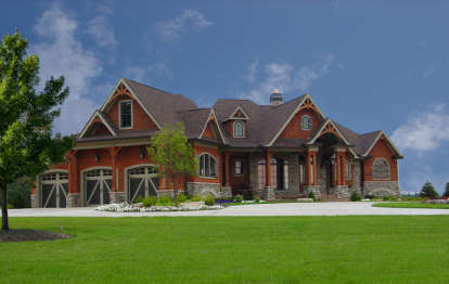 4 Bed, 4 Bath, 3773 Square Foot House Plan - #699-00094