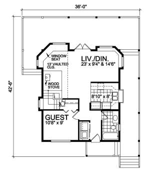 Floorplan 1 for House Plan #4177-00006