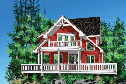2 Bed, 2 Bath, 1286 Square Foot House Plan - #4177-00007